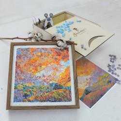 """Изделие """"Ночник"""", ручная работа сделанная из мозаики, с красивейшим узором."""