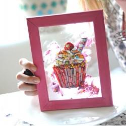 Мозаичный подсвечник с изображением цветов