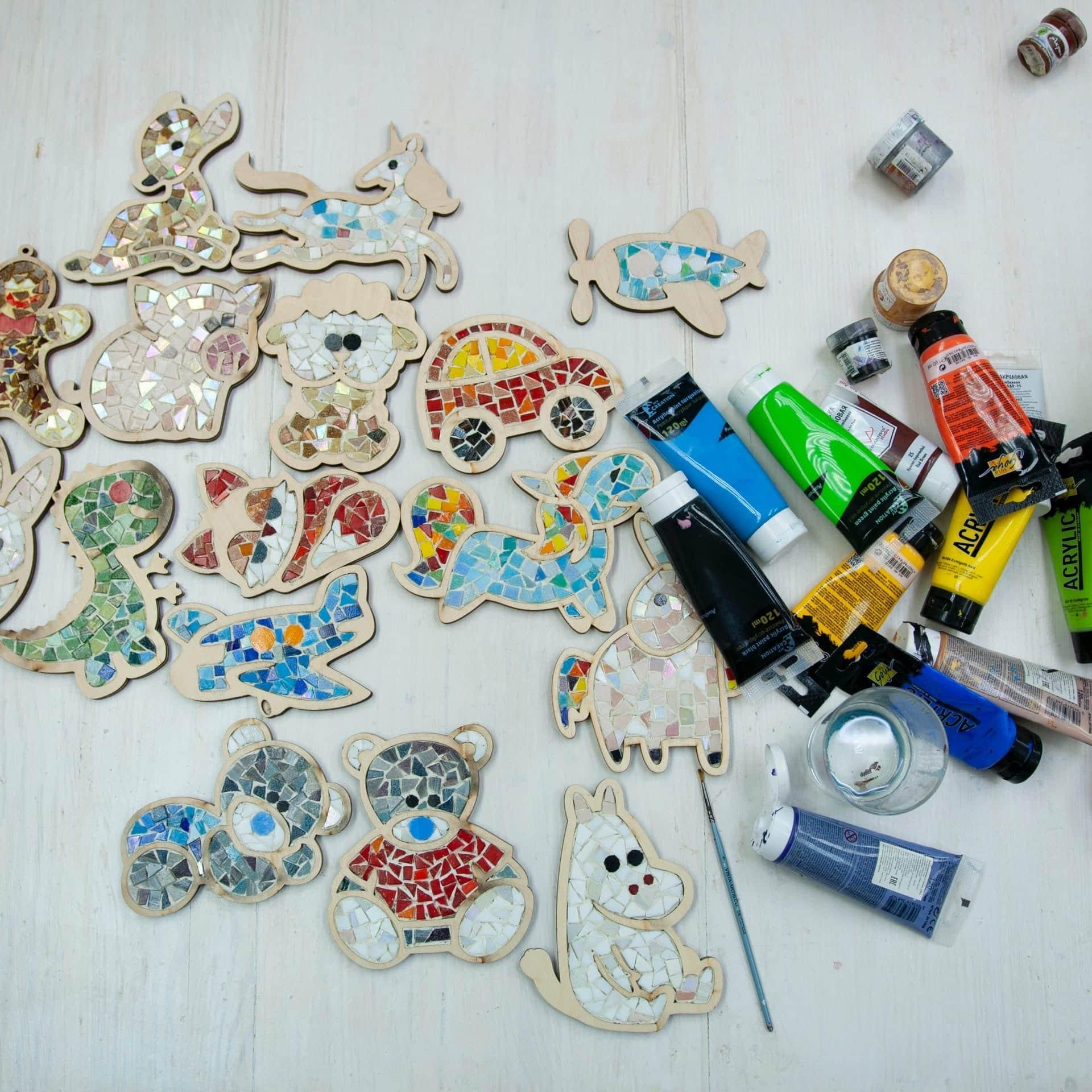 детский набор из мозаики